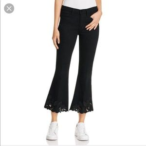 Frame Denim Black Le High Flare jeans sz 24